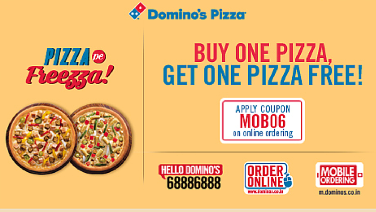Dominos Buy One Get One Free Pizza