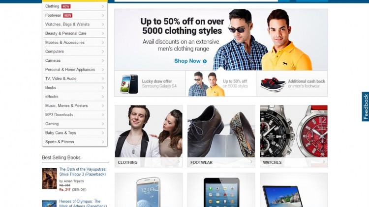 Flipkart Big Shopping Days Sale – March 7th to 9th, 2016