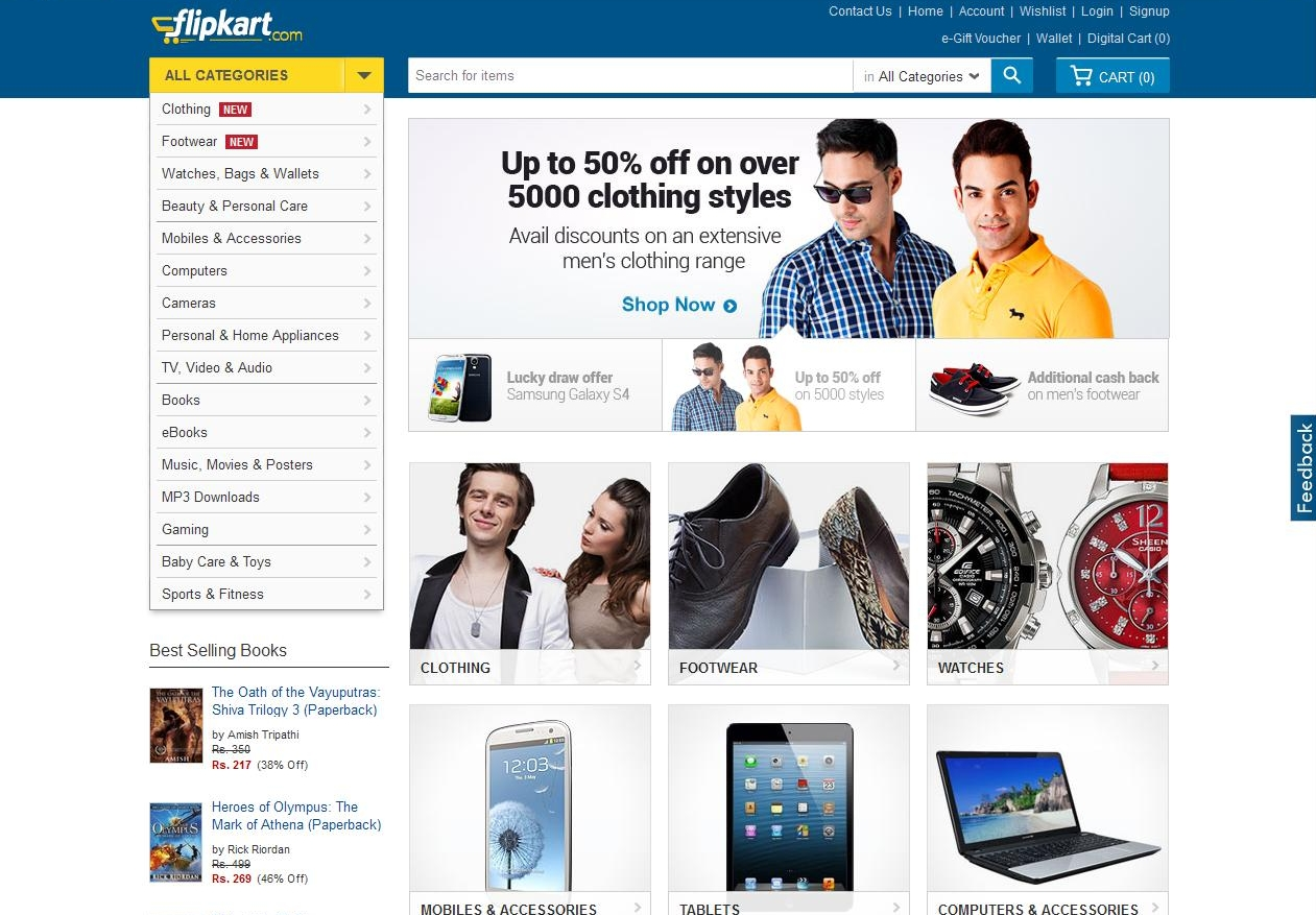 Flipkart big shopping days sale march 7th to 9th 2016 for Online shopping for the home